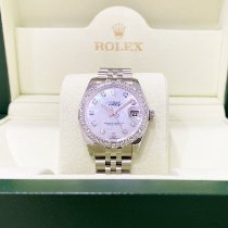 Rolex Steel Automatic Mother of pearl 31mm pre-owned Lady-Datejust