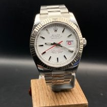 Rolex Datejust Turn-O-Graph Acciaio 36mm Bianco Senza numeri
