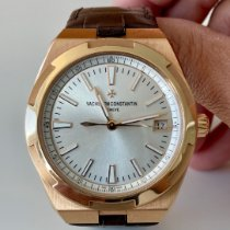 Vacheron Constantin Rose gold Automatic Silver No numerals 41mm pre-owned Overseas