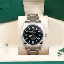 Rolex Steel Automatic Black Arabic numerals 39mm pre-owned Explorer