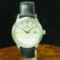 Maurice Lacroix Les Classiques Date gebraucht 40mm Silber Leder