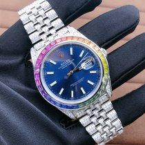 Rolex Datejust Otel 41mm Albastru Roman