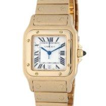 Cartier Santos Galbée 887901 Very good Yellow gold 29mm Quartz