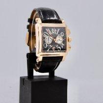Franck Muller Conquistador Cortez Oro rosa 41mm Negro Arábigos