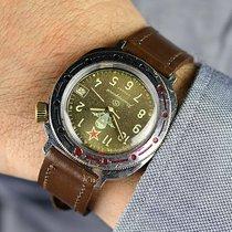 Vostok Airborne USSR Military Watch Très bon Acier 43mm Remontage manuel