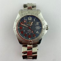 Breitling Colt GMT Steel 400mm Blue Arabic numerals