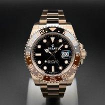 Rolex GMT-Master II Ruzicasto zlato 40mm Crn Bez brojeva