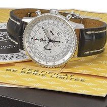Breitling White gold Automatic Silver Arabic numerals 42mm pre-owned Navitimer