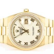 Rolex Day-Date Oysterquartz Oro amarillo 36mm Blanco Romanos