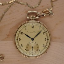 IWC Uhr gebraucht 1930 Gelbgold 49mm Handaufzug Nur Uhr