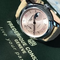 Frederique Constant Classics Moonphase pre-owned Bronze Leather