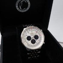 Breitling Navitimer Heritage pre-owned 42mm White Chronograph GMT Steel