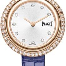 Piaget новые Кварцевые Отделка драгоценными камнями/бриллиантами 34mm Pозовое золото Сапфировое стекло
