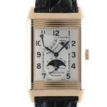 Jaeger-LeCoultre Red gold Manual winding Silver 42mm pre-owned Reverso (submodel)