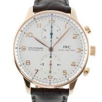 IWC Portuguese Chronograph Sarı altın 41mm Gümüş