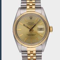 Rolex Datejust Aur/Otel 36mm Auriu Fara cifre