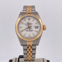 Rolex Oyster Perpetual Lady Date Or/Acier 26mm Blanc