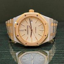 Audemars Piguet Royal Oak Selfwinding Zlato/Ocel 41mm Stříbrná Bez čísel