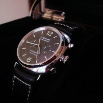 Panerai Radiomir Chronograph Acero 42mm Negro Arábigos