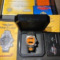 Breitling Titanio Cuarzo Naranja Arábigos 43mm usados Emergency