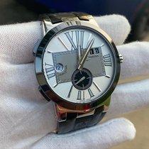 Ulysse Nardin Executive Dual Time Steel 43mm Silver Roman numerals United States of America, South Carolina, goose creek