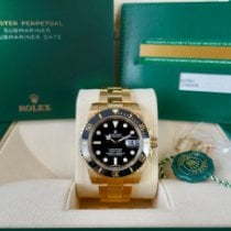 Rolex Submariner Date pre-owned 40mm Black Date Yellow gold