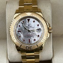 Rolex Yellow gold Automatic Mother of pearl No numerals 40mm pre-owned Yacht-Master 40
