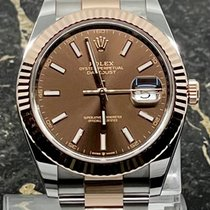 Rolex Datejust II Goud/Staal 41mm Bruin Geen cijfers Nederland, Rotterdam