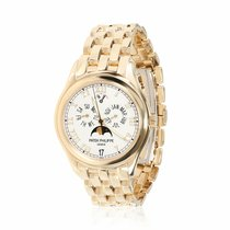 Patek Philippe Yellow gold Automatic Champagne 36mm pre-owned Annual Calendar