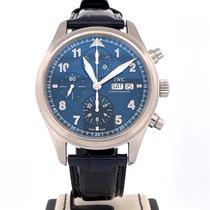 IWC 파일럿 크로노그래프 스틸 42mm 파란색 아라비아 숫자