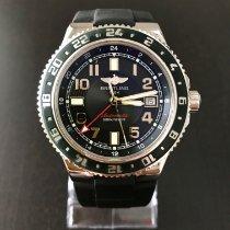 Breitling Superocean GMT Staal 41mm Zwart