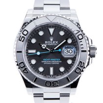 Rolex Steel Automatic Grey No numerals 40mm new Yacht-Master 40