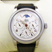 Oris Big Crown Complication Steel 38mm Silver Arabic numerals