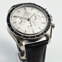 Omega White gold Manual winding Silver No numerals 42mm new Speedmaster Professional Moonwatch