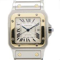 Cartier Santos Galbée подержанные 29mm Cеребро Дата Золото/Сталь