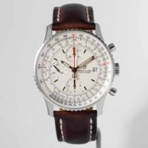 Breitling Steel Automatic Silver No numerals 41mm pre-owned Navitimer Heritage