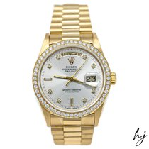 Rolex Day-Date 36 Yellow gold 36mm Silver No numerals United States of America, California, Fullerton