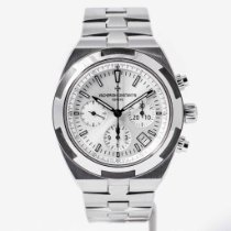 Vacheron Constantin Steel Automatic Silver No numerals 42.5mm pre-owned Overseas Chronograph