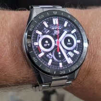 TAG Heuer Steel Quartz Black 45mm pre-owned Connected