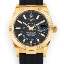 Rolex new Automatic 42mm Yellow gold Sapphire crystal