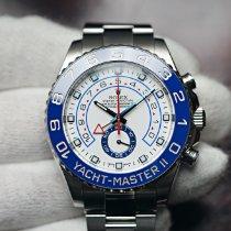 Rolex Yacht-Master II Steel 44mm White No numerals