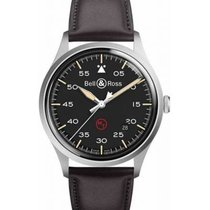 Bell & Ross BR V1 BRV192-MIL-ST/SCA New Steel 38.5mm Automatic