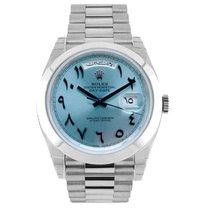 Rolex Day-Date 40 Platinum 40mm Blue UAE, Dubai