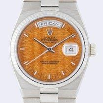 Rolex 19019 Witgoud 1981 Day-Date Oysterquartz 36mm tweedehands