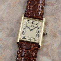 Cartier Tank Vermeil Gold/Steel 23.5mm Roman numerals