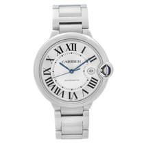 Cartier Ballon Bleu 42mm Steel 42mm Silver Roman numerals United States of America, New York, NYC