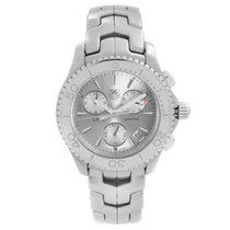 TAG Heuer Link Quartz pre-owned 42mm Silver Chronograph Steel