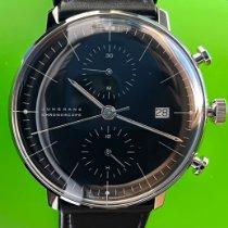 Junghans max bill Chronoscope Aço 40mm Preto Sem números