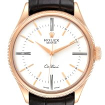 Rolex Cellini Time Rose gold 39mm White