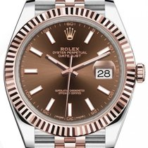 Rolex Datejust II Gold/Steel 41mm Brown No numerals United Kingdom, London